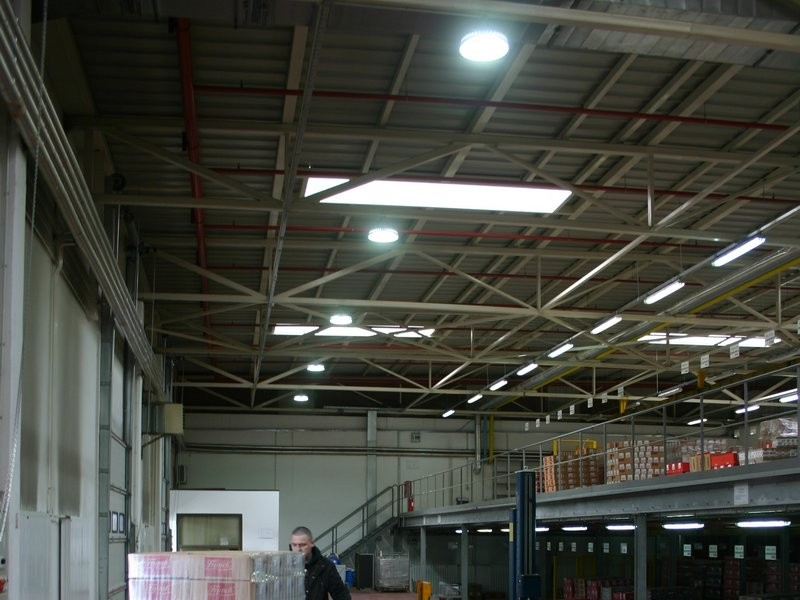 Industrial lighting application - Coca Cola, Franck, Studenac