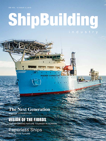 Gala LED portable safety work lighting in the Shipbuilding Industry Magazine
